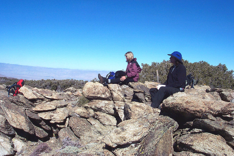 We took a lunch break on Pyramid Peak at 7,035 feet.