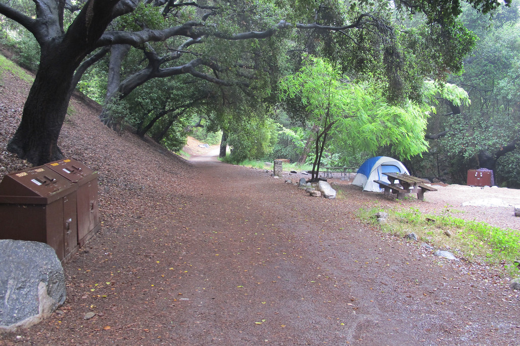 Back at the campground. Nice little hike, the rain made it fun.