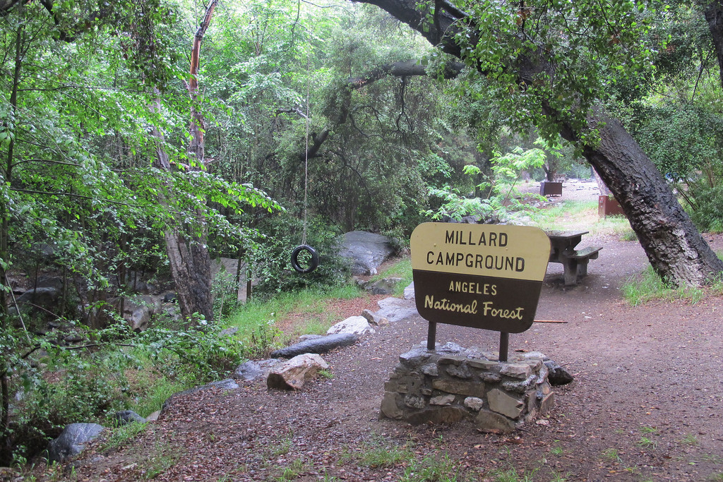 From the parking lot, followed the fire road about a hundred yards to the Millard Campground.