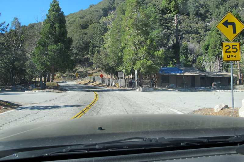 The start of the Mt Wilson Road at Red Box. It's about a two and a half mile drive up this road to Eaton Saddle.