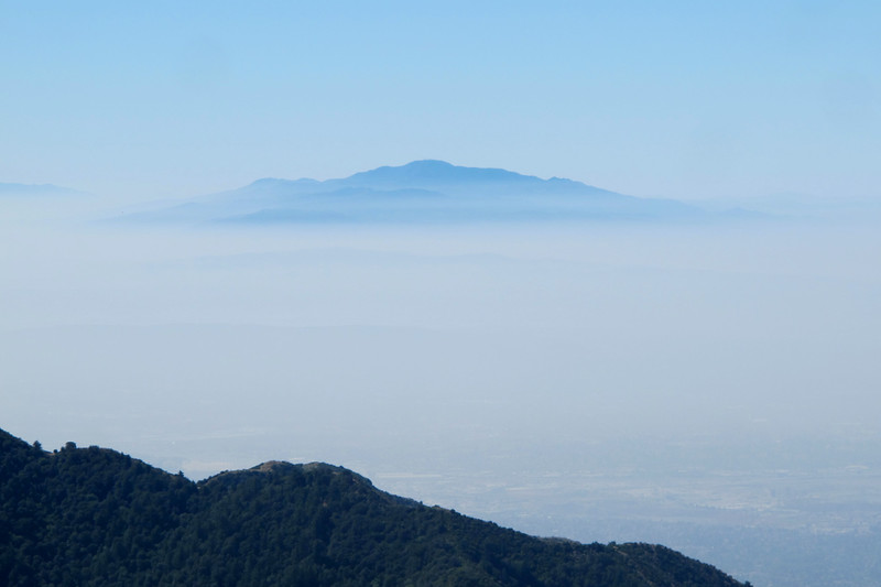San Jacinto Peak at 10,804'  about 85 miles away.
