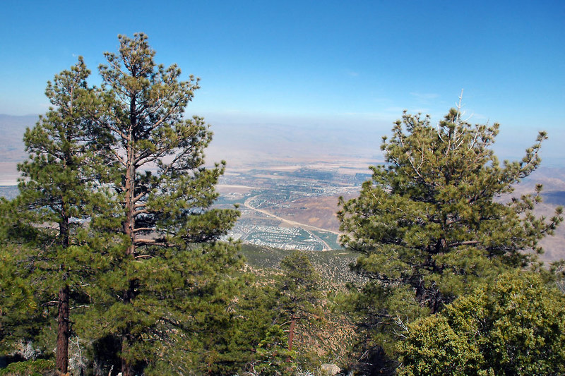 Looking down into the Cahuilla Valley.