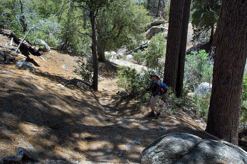 Steep down just past Tahquitz Meadow.