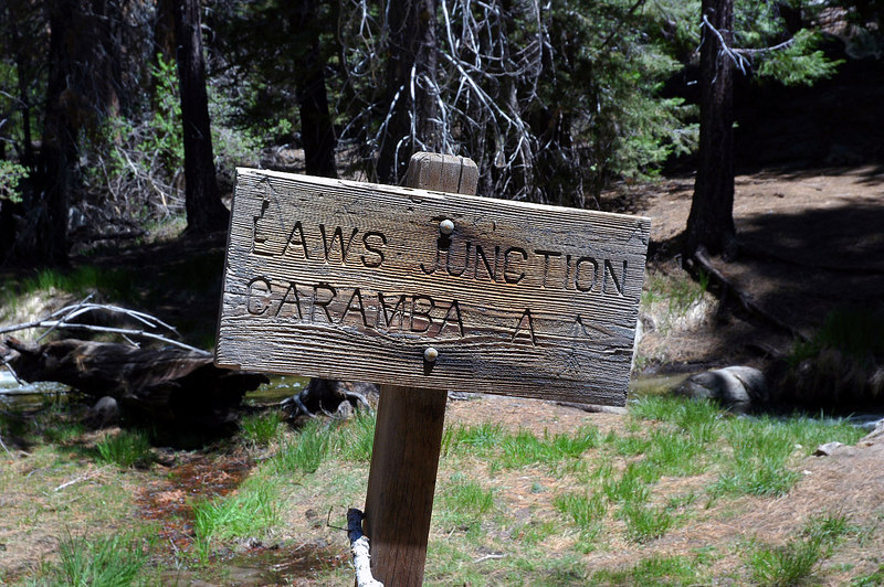 From Laws Junction we headed to Caramba Camp for a 400 foot lost. There be a lot of uphill on the way out.