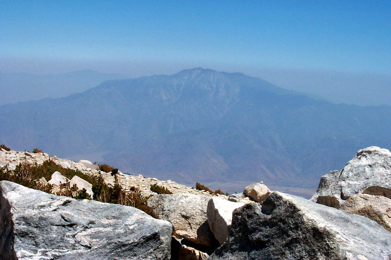 It was a little hazy, but we still had a good view of San Jacinto Peak to the south.