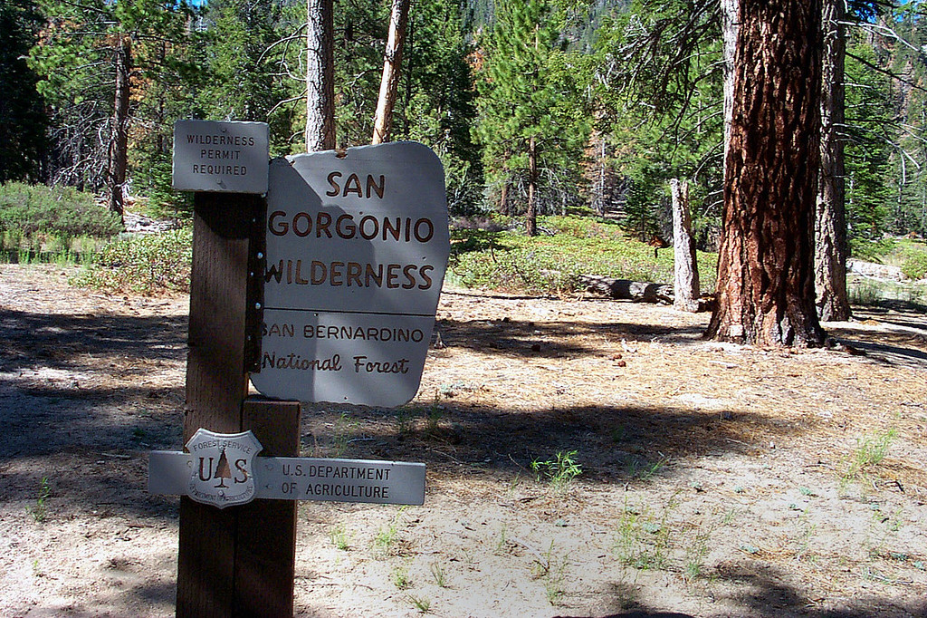 The San Gorgonio Wilderness boundary is right at the start of the trail.