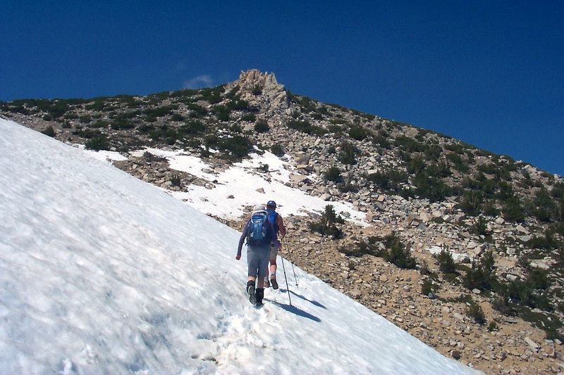 This was the largest patch of snow we crossed. It was about 200 feet across.