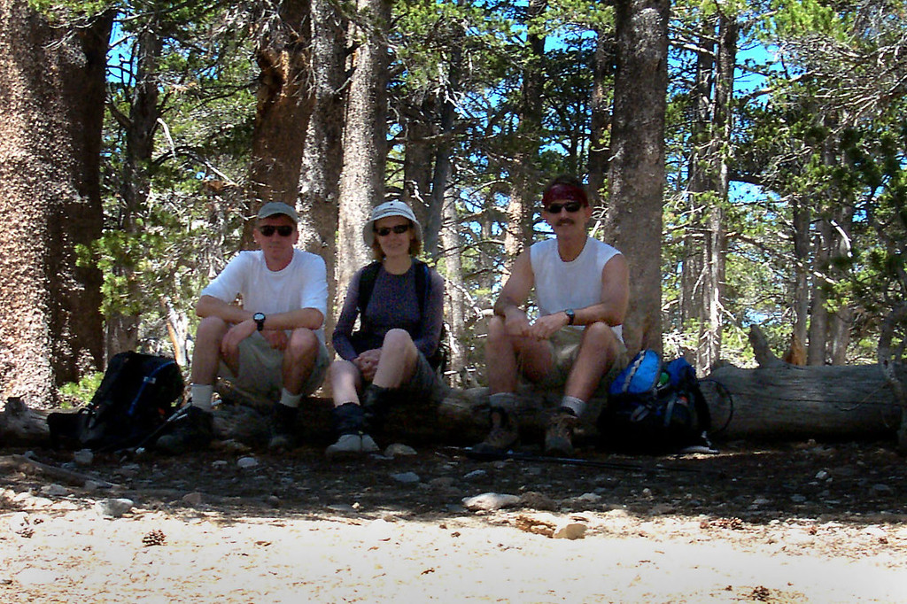 We took a short break at Fish Creek Saddle at about 9,800 feet.
