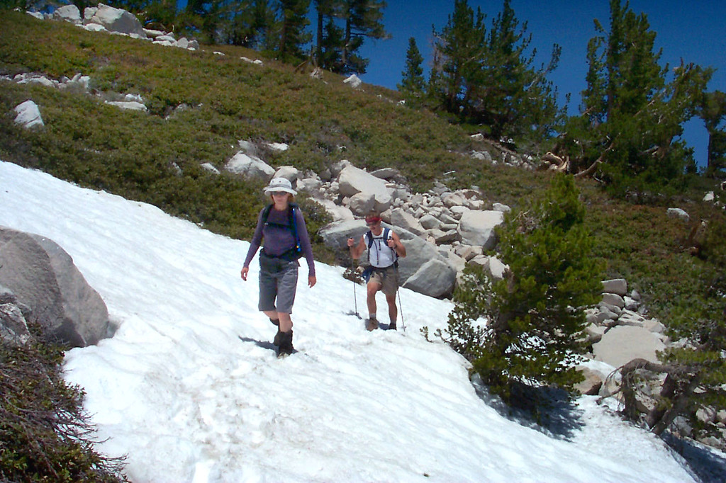 This is the first patch of snow that we crossed just a short distance from the saddle.