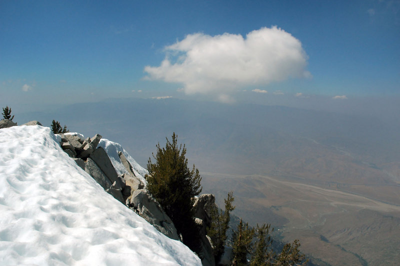 It was kind of hazy, but we could still make out San Gorgonio Mountain to the northwest.