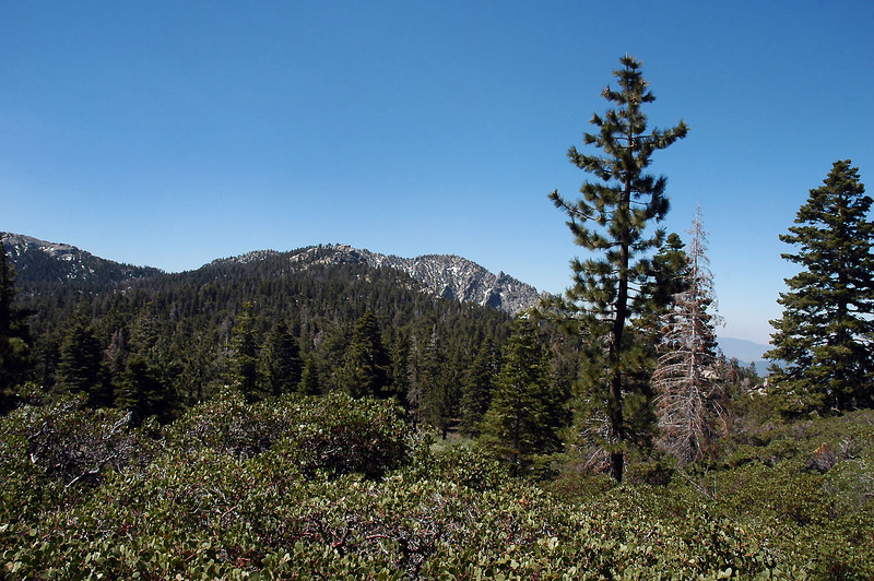 Tahquitz Peak starts to show from behind another ridge.