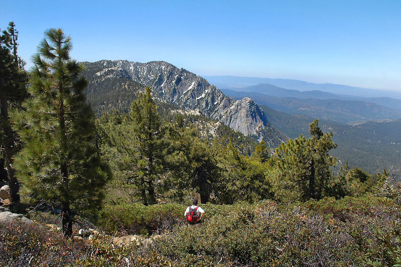 Great view of Tahquitz Peak and Lily Rock, the bump on the right.