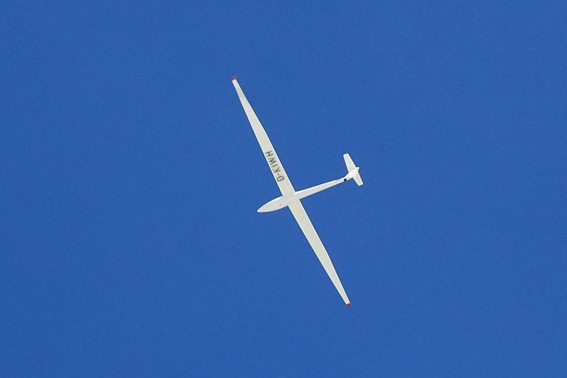 This sailplane was flying above the peak.