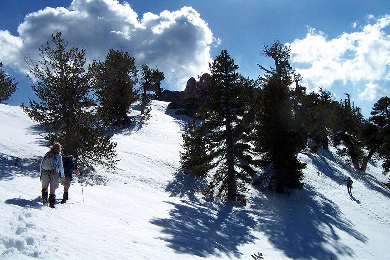 The ladies up ahead just below the ridge.