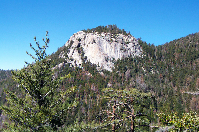 Our first view of Suicide Rock. We would be getting great views of the rock as climbed on the Devils Slide Trail.