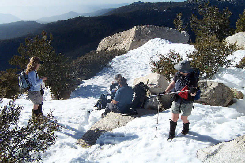 The gang taking a break on the summit.