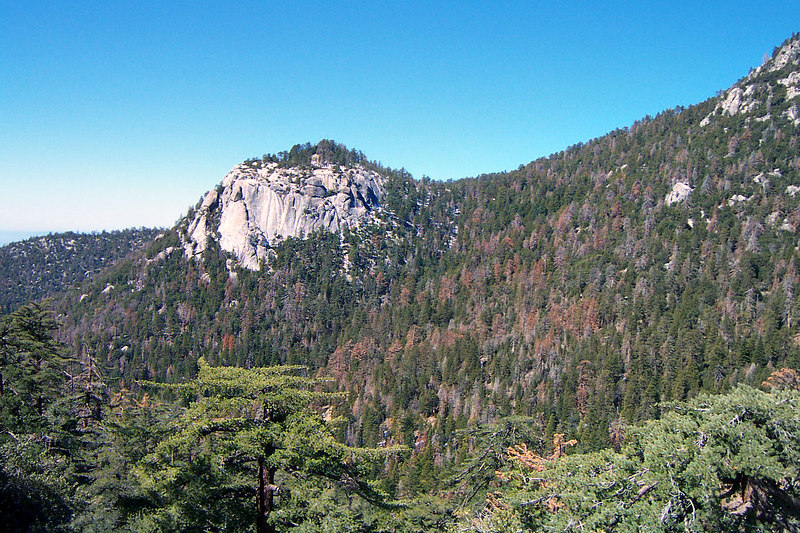 Another view of Suicide Rock from higher up the trail.