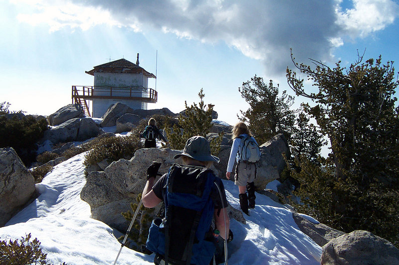 It was a great feeling reaching the summit and seeing the lookout tower, we are here!!!
