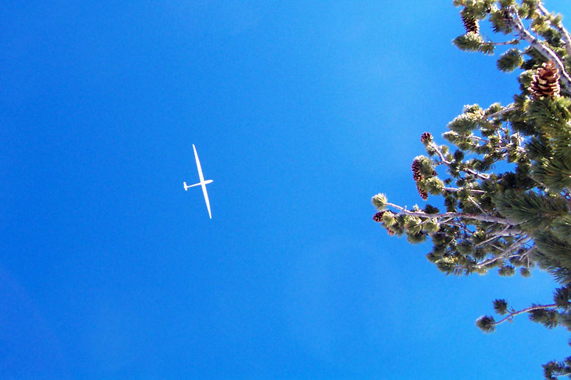 A sailplane did a fly by, always cool to see one of these.