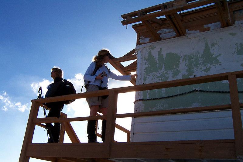 Sooz and Tara on the tower.