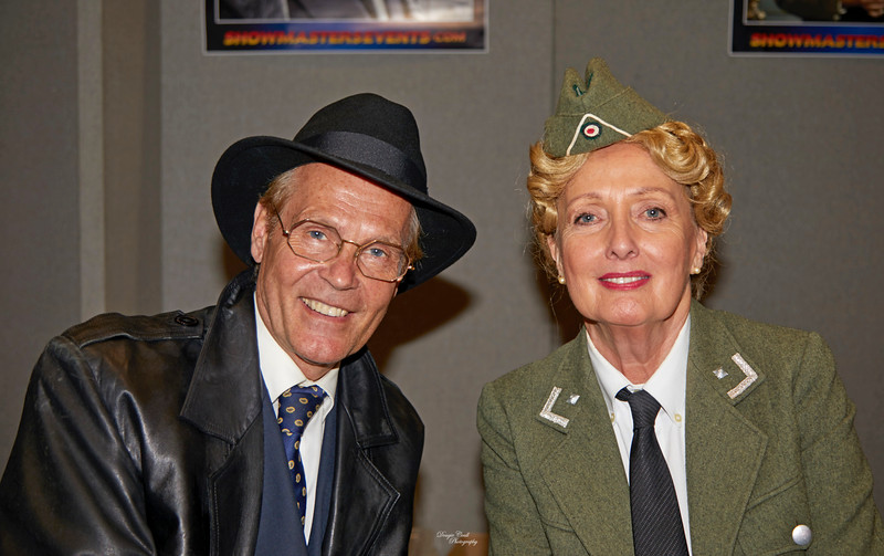 Richard Gibson and Kim Hartman from 'Allo Allo' at Braehead Arena - 17 August 2019