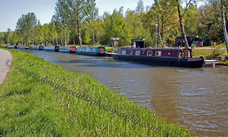 Barges Line up on the Forth & Clyde Canal