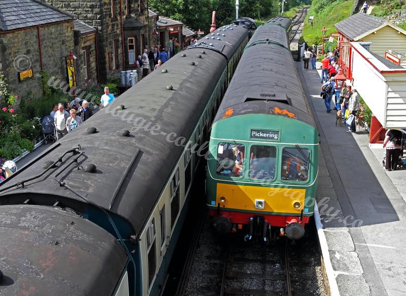 Goathland Station - Diesel Locomotive E50204 - 30 June 2011