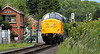 NYMR - Diesel Locomotive Passing 'New Bridge' Level crossing - 29 June 2011