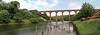 Larpool Viaduct Over the River Esk - Panorama