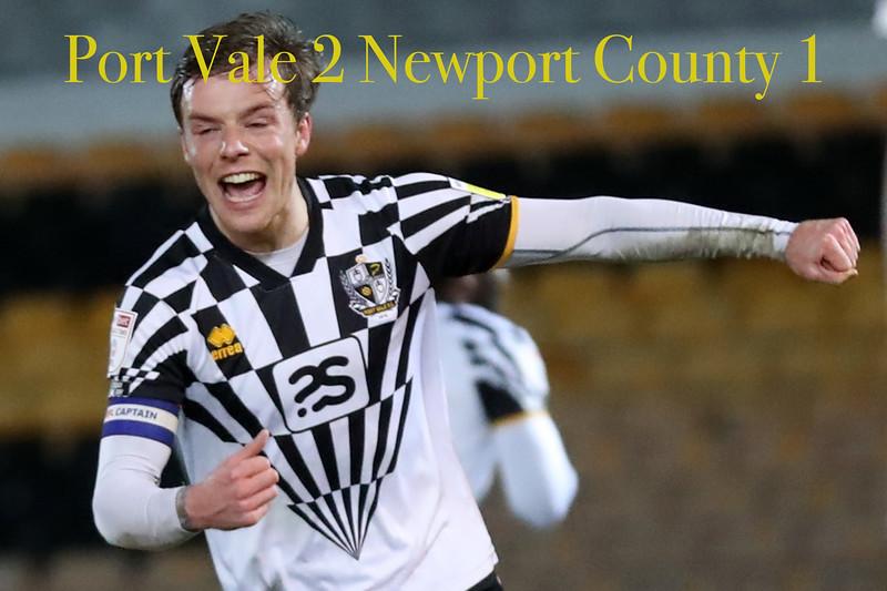 Port Vale v Newport 16/03/2021