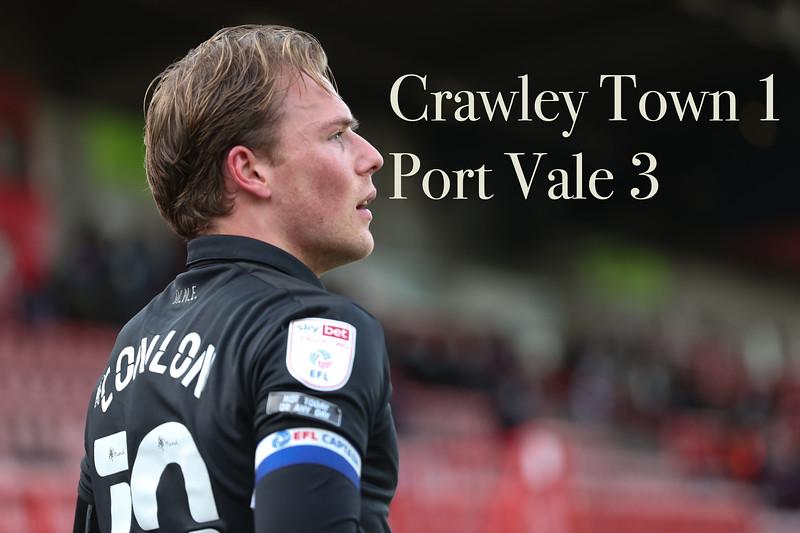 Crawley v Port Vale 27/03/2021