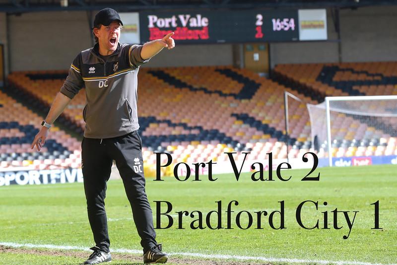 Port Vale v Bradford 24/04/2021