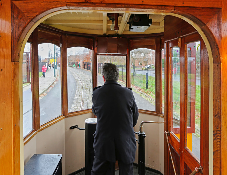 Glasgow Tram (1017) at Summerlee Museum, Coatbridge - 30 November 2016