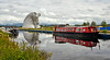 The Kelpies from the Canal - 28 June 2014