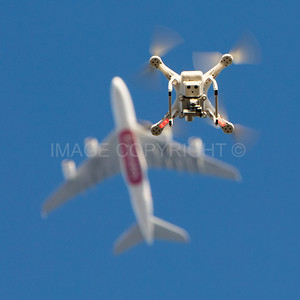 Drone versus Jet Plane