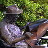 Old Man reading His Paper<br /> Brookgreen Gardens<br /> Murrell's Inlet, South Carolina