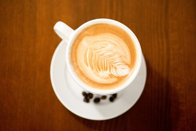 Picture of a cappuccino at the Alley Cat Cafe in Fort Collins, CO