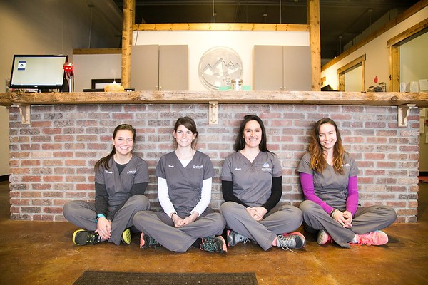 Group Business Portraits Photographer - Elevations Chiropractic Practice in Fort Collins, CO