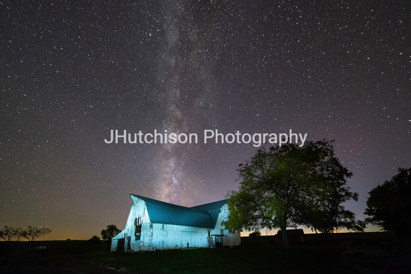 FR0033 - Late Autumn Milky Way On Kelsey Creek Farm