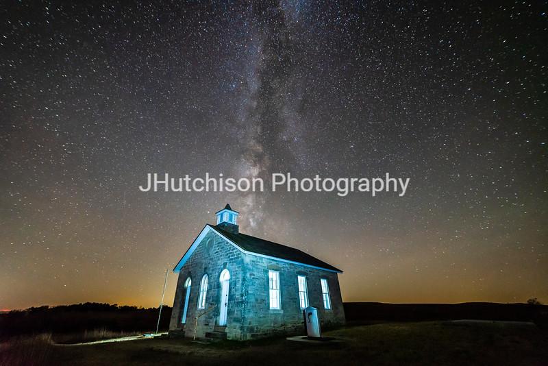 FH0109 - Milky Way Over the Lower Fox Creek School