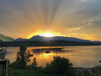 Sunset over the Grand Tetons
