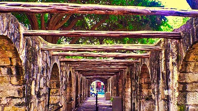 Side Entrance to the Alamo, San Antonio, Texas