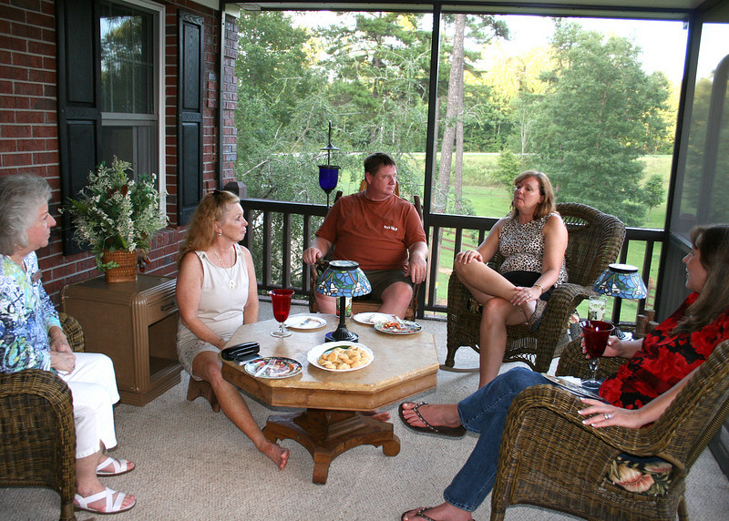The Tri-State Business Women had this month's get together at Pam's house.  Jean, Pam, John, Cathy and Jill.