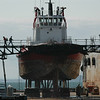 Crowley Tractor tug awaiting bottom paint at the Dakota Creek dry dock in Anacortes.....