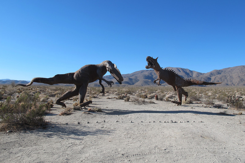 These two large battling dinosaurs were nearby.