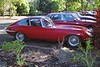 2000 Jun - E-Type Jaguar in Bundaberg. Rally meeting up in a carpark