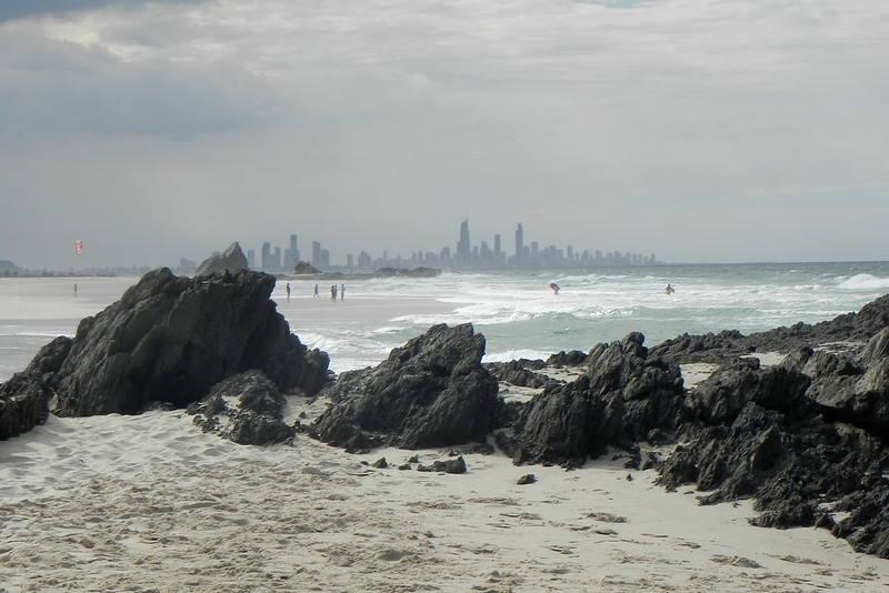 01/09/2016 - Surfers Paradise from Elephant Rock, Currumbin Beach, Gold Coast, QLD.