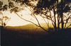 1979 Feb - Sunset Over Coastal Ranges Near Mt Warning