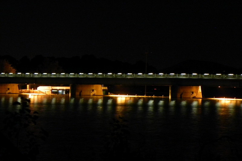 23/04/2016 - Scrivener Dam at Night, Lake Burley Griffin, Canberra