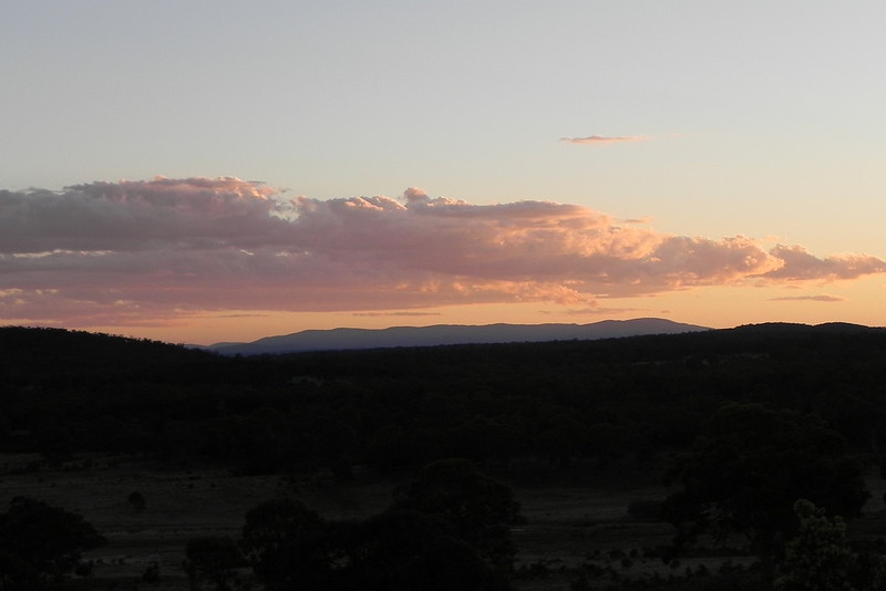 25/11/2016 - Dusk light looking South East in Tarago